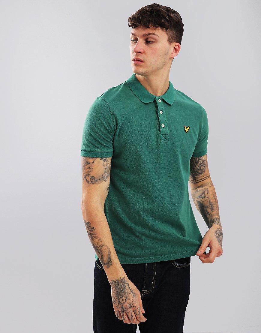Lyle & Scott Snow Wash Polo Shirt Alpine Green