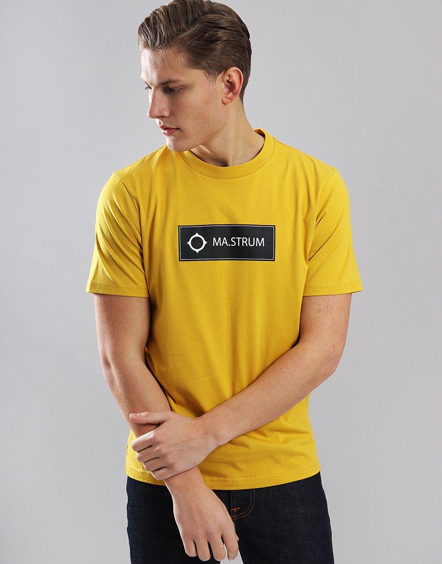 MA.Strum Icon Box Print Logo T-Shirt Cadmium