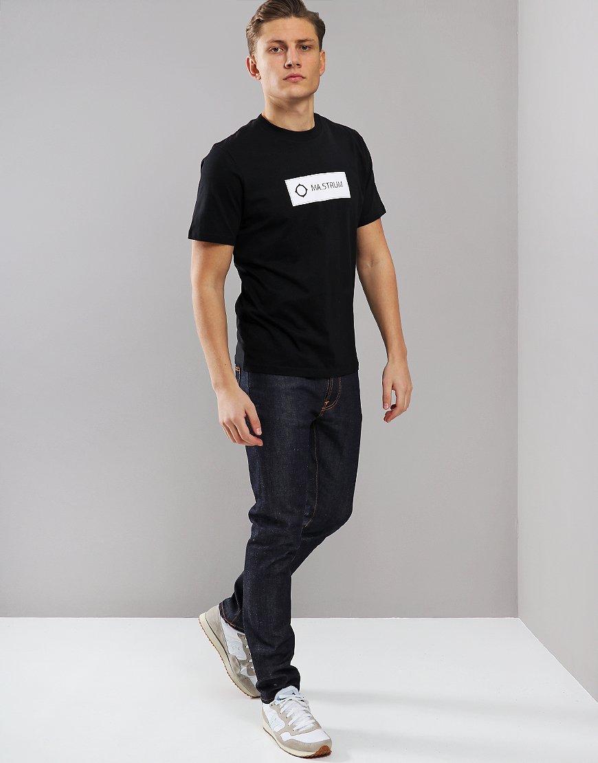 MA.Strum Icon Box Print Logo T-Shirt Black