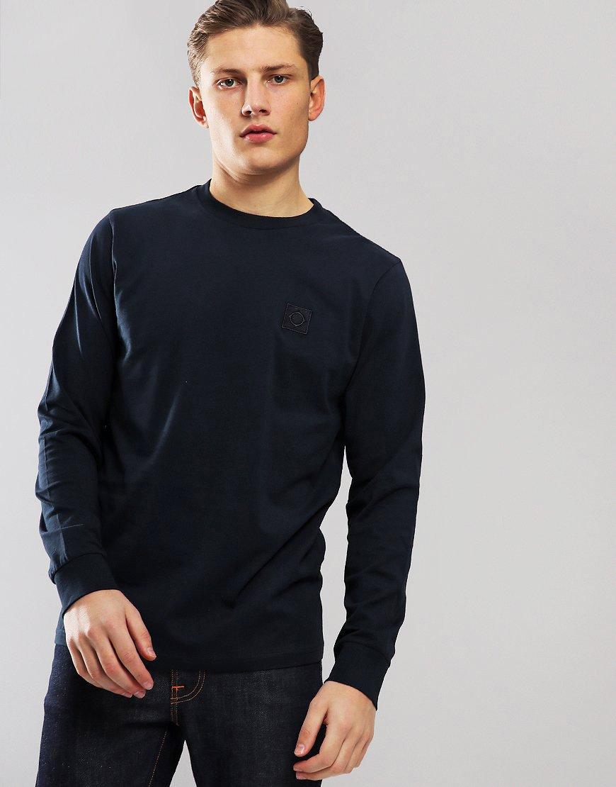 MA.Strum Long Sleeve Icon Logo T-Shirt Dark Navy