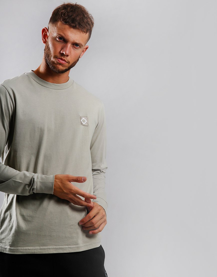 MA.Strum Long Sleeve Icon T-Shirt Silver Goose