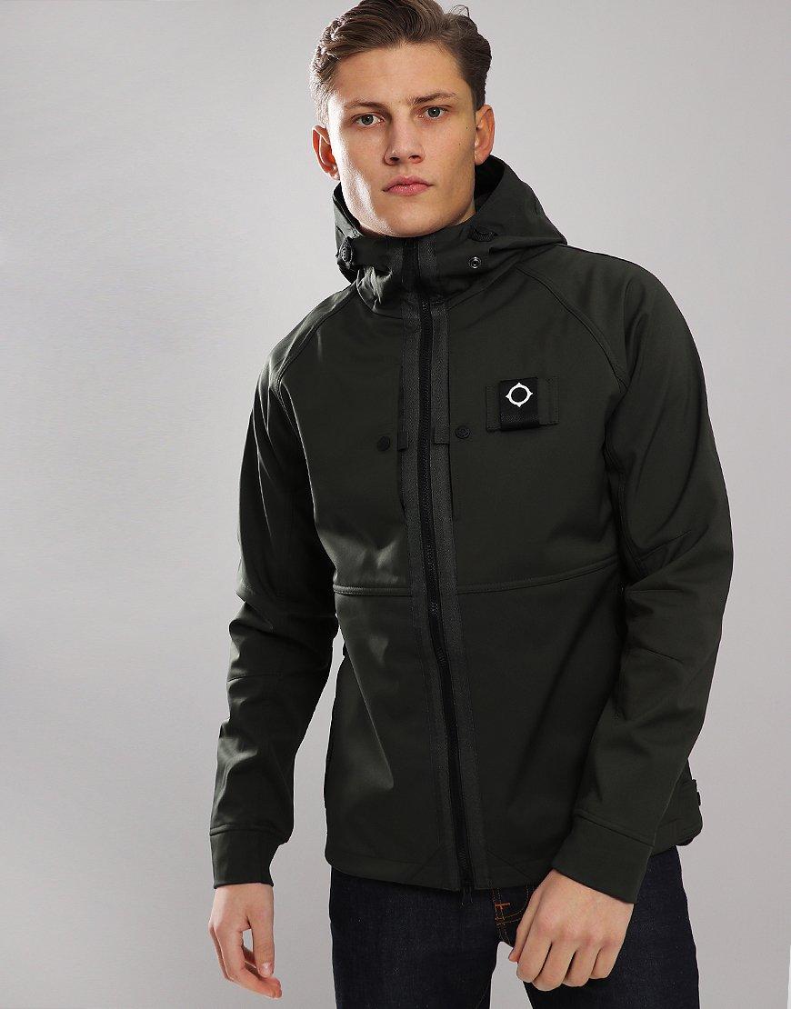 MA.Strum Mercury Softshell Jacket Dark Khaki Green