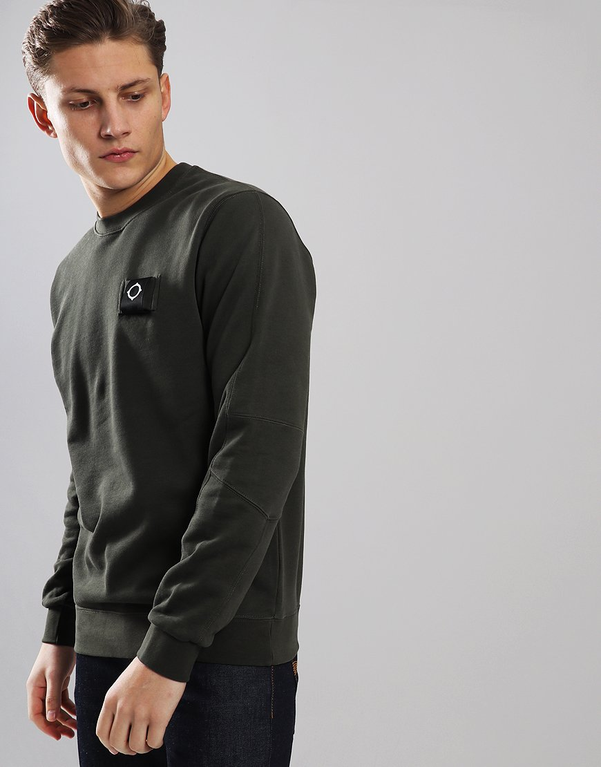 MA.Strum Training Crew Sweat Dark Khaki Green