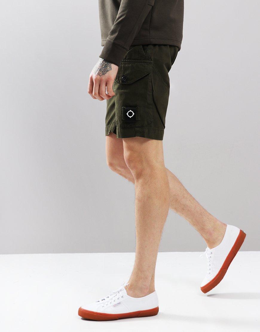 MA.Strum GDM Cargo Shorts Dark Khaki Green