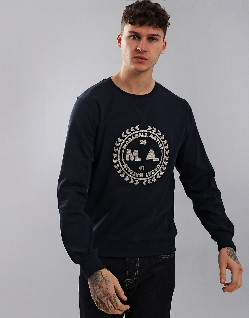 Marshall Artist Casually Crafted Crew Neck Sweat Navy