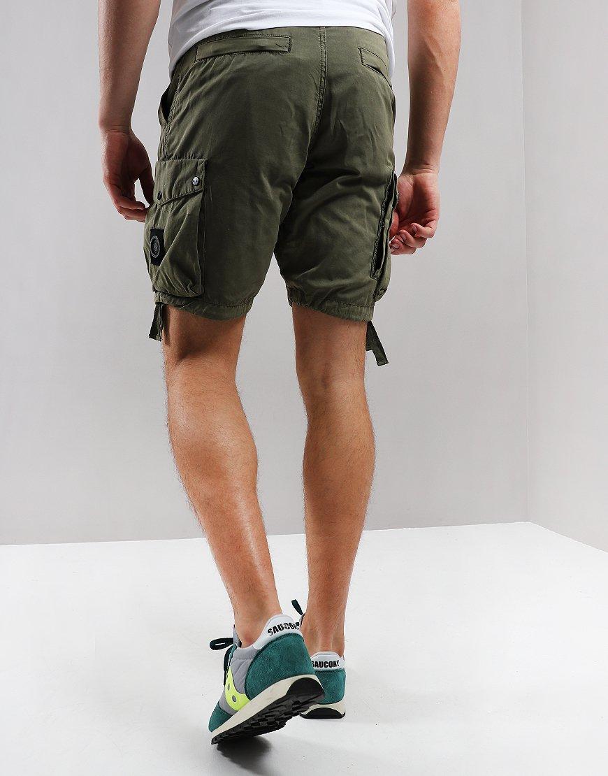 Marshall Artist Garment Dyed Cargo Wash Shorts Khaki