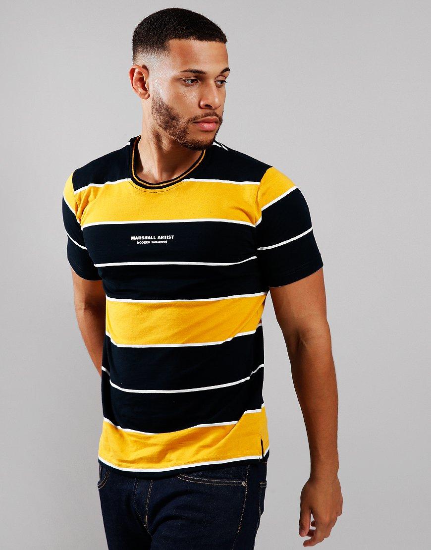 Marshall Artist Hoop T-Shirt Navy/Mustard