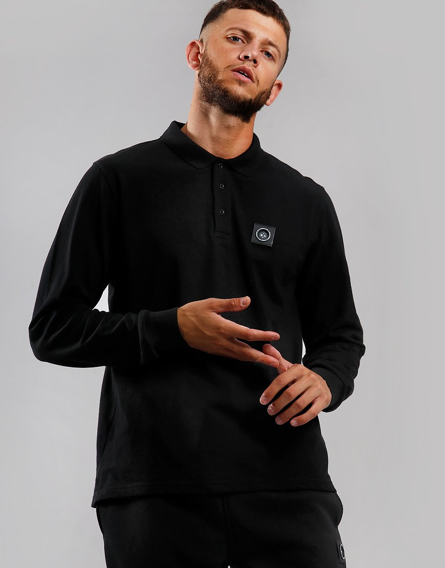 Marshall Artist Siren Long Sleeve Polo Black