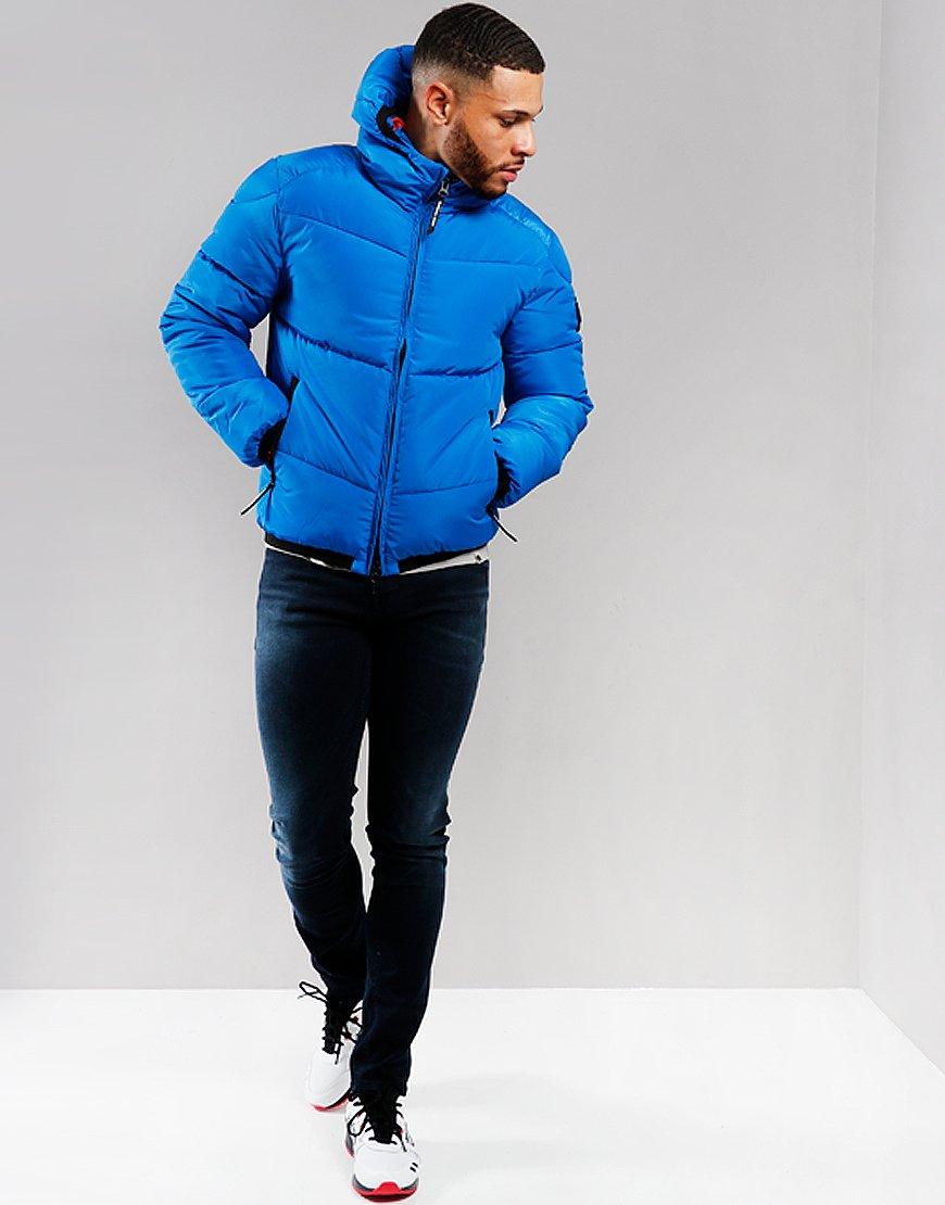 Marshall Artist Paninaro Bubble Jacket Royal Blue