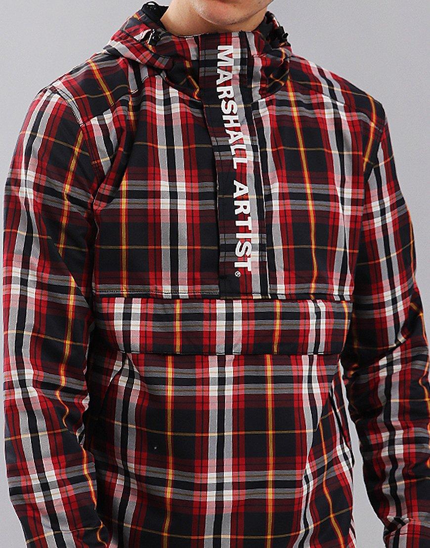 Marshall Artist Ripstop Half Zip Jacket Multicheck