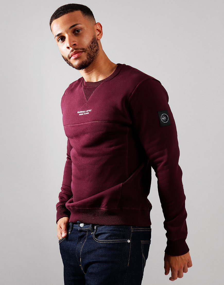 Marshall Artist Siren Crew Neck Sweat Burgundy