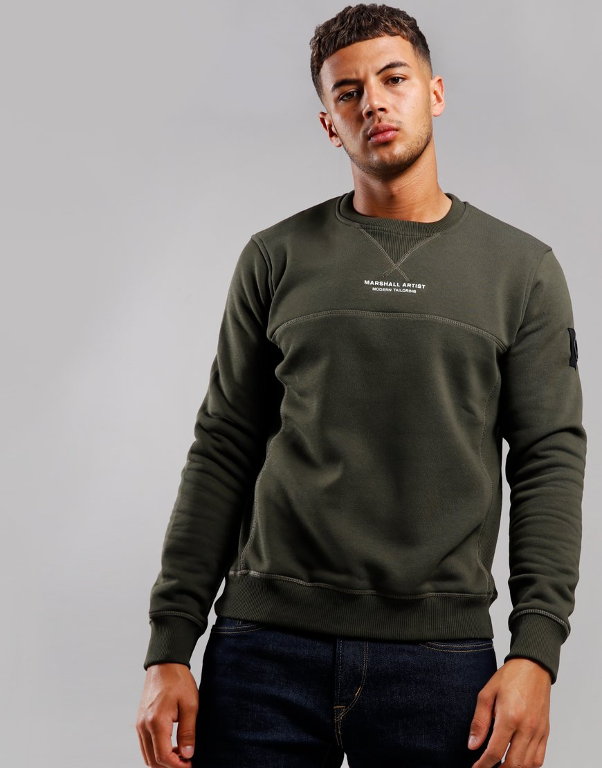 Marshall Artist Siren Crew Neck Sweat Khaki