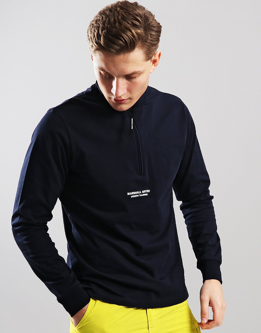 Marshall Artist Siren Funnel Neck Sweat Navy