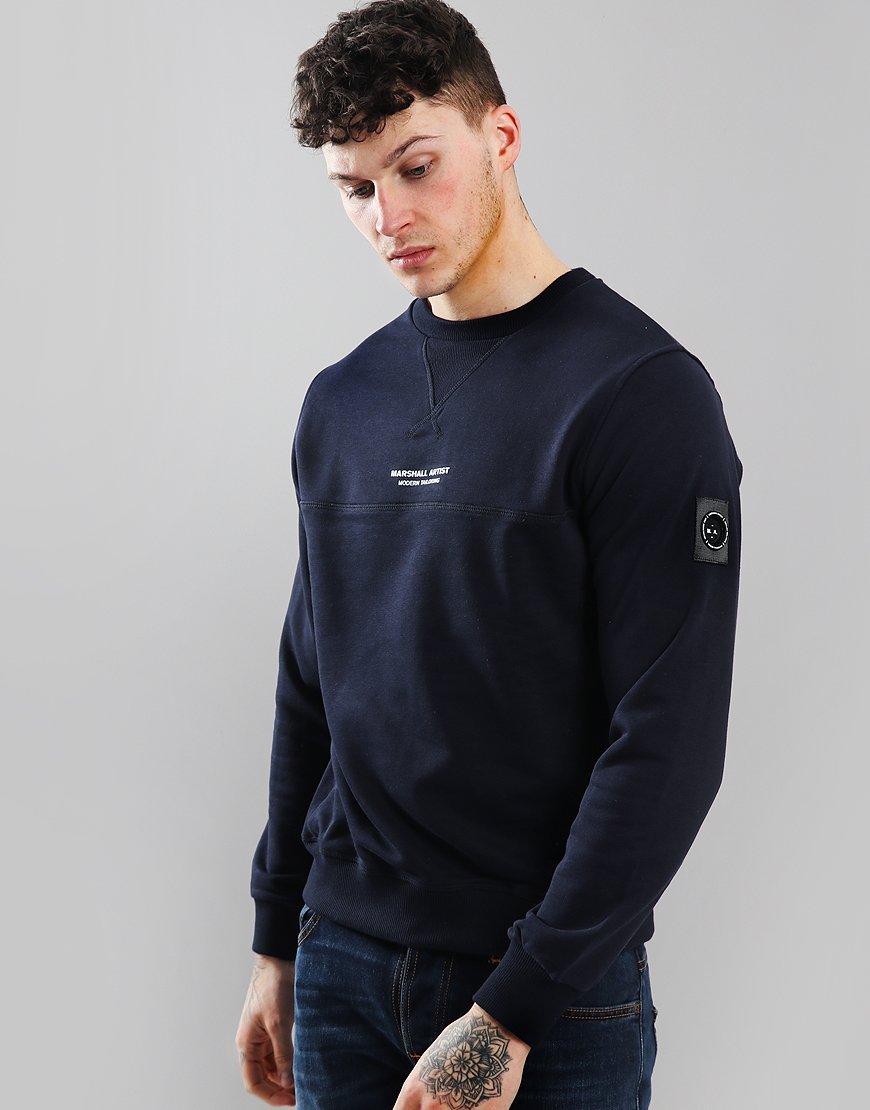 Marshall Artist Siren Crew Neck Sweatshirt Navy