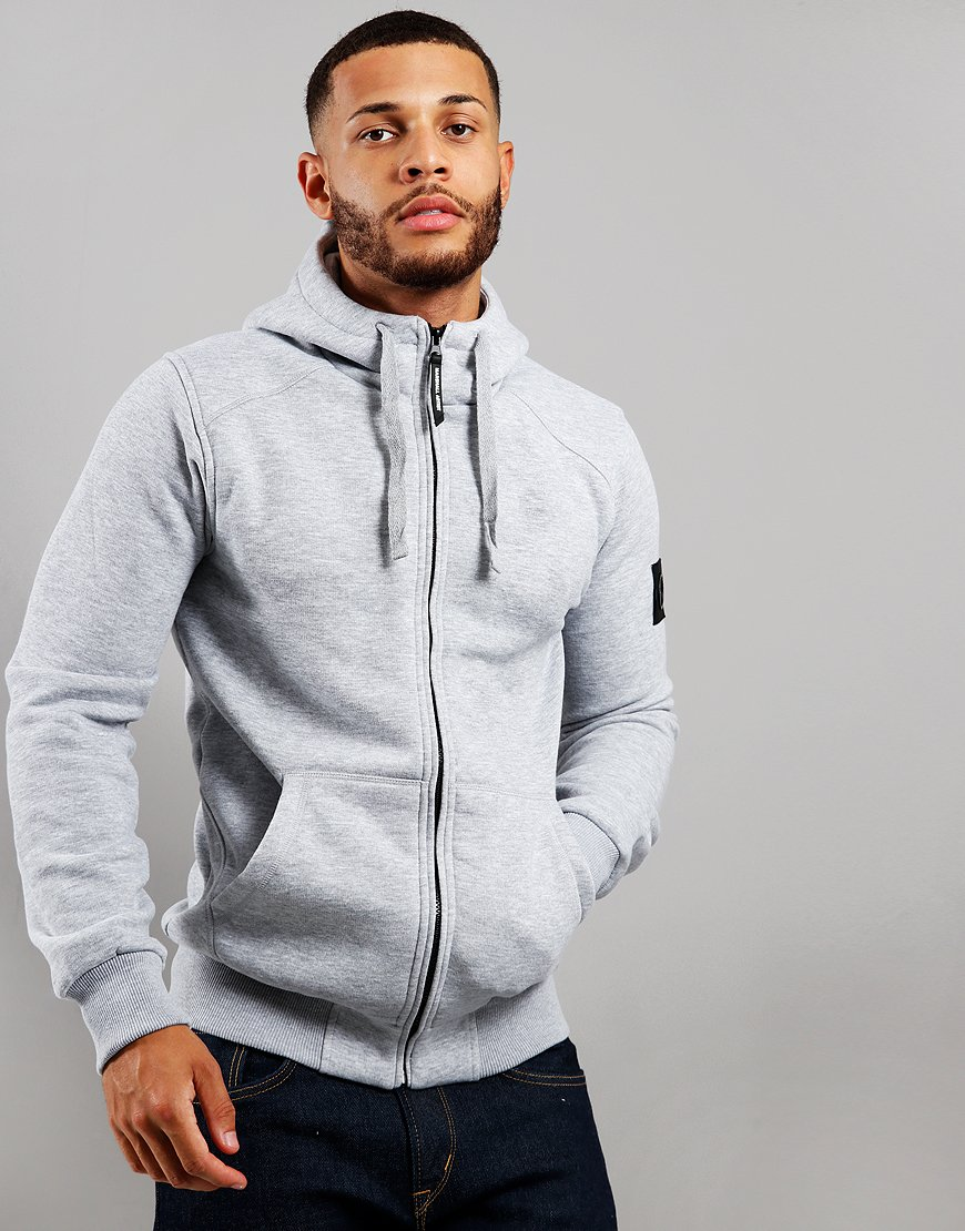 Marshall Artist Siren Hooded Zip Sweat Grey Marl
