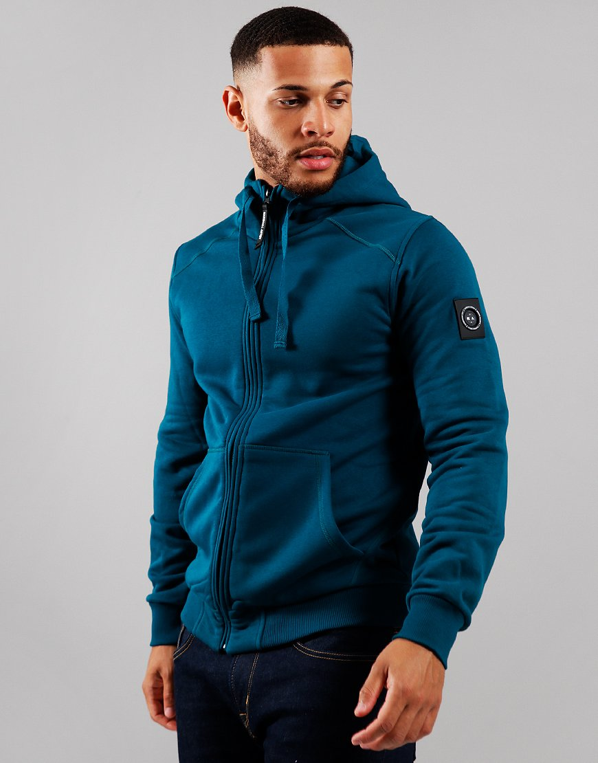 Marshall Artist Siren Hooded Zip Sweat Teal