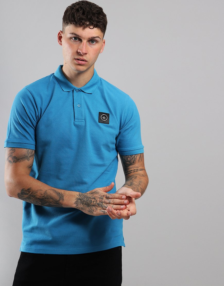 Marshall Artist Siren Polo Shirt Bright Blue