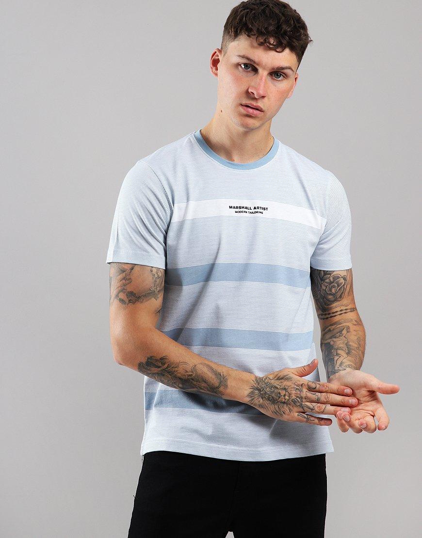 Marshall Artist Classic Stripe T-Shirt Sky