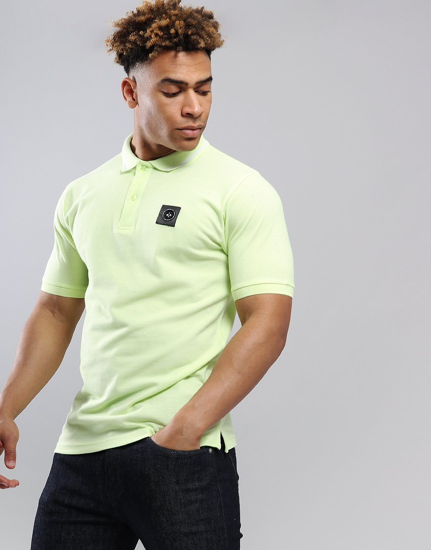 Marshall Artist Siren Polo Shirt Acid Lime