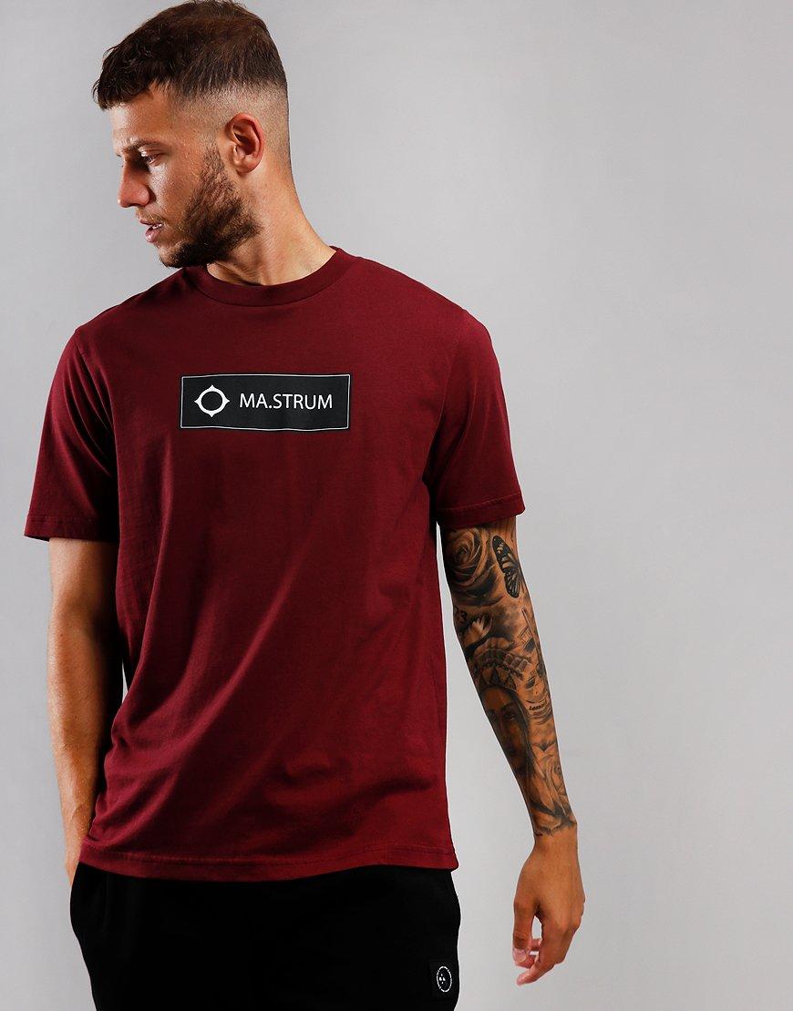 MA.Strum Icon Box Print T-Shirt Spartan Red