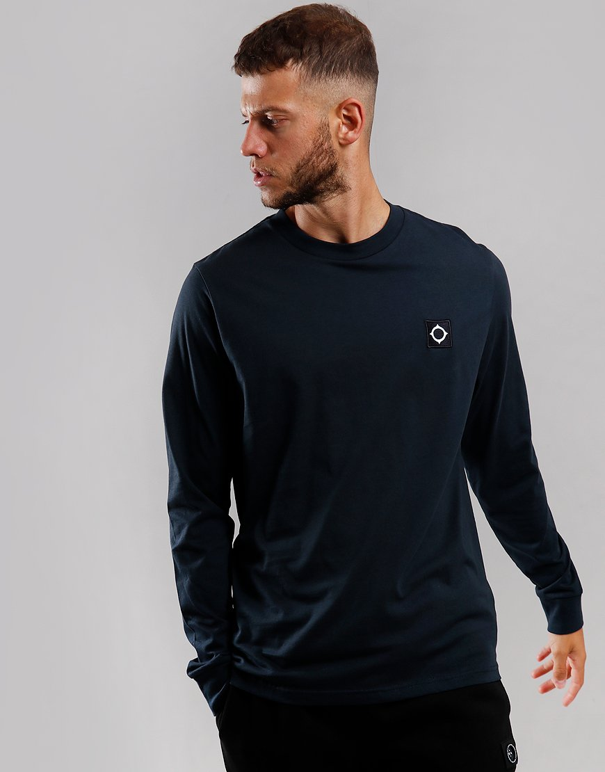 MA.Strum Icon Long Sleeve T-Shirt Jet Black Dark Navy