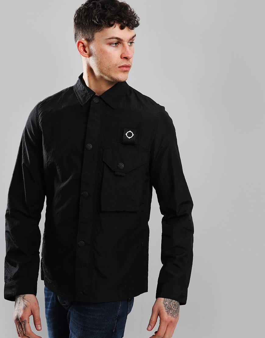MA.Strum Lacerta Overshirt Jet Black