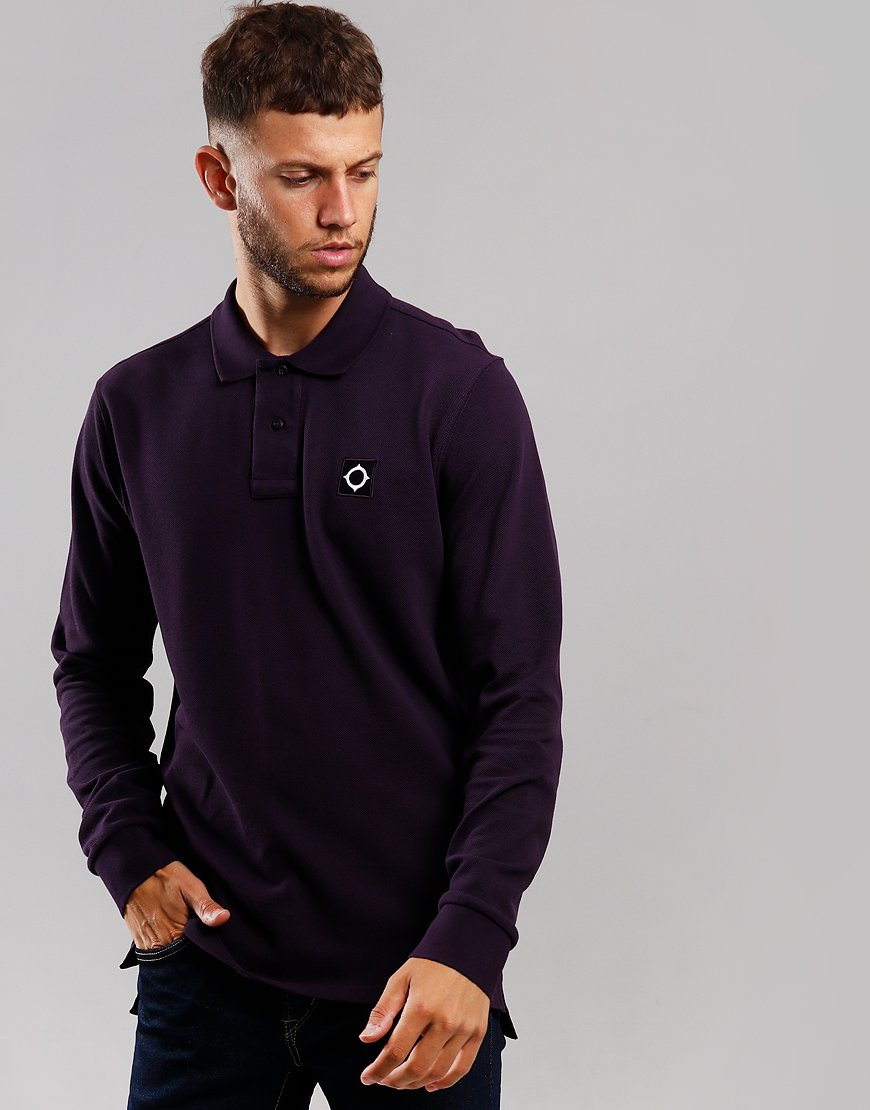 MA.Strum Long Sleeve Piqué Polo Shirt Phonician