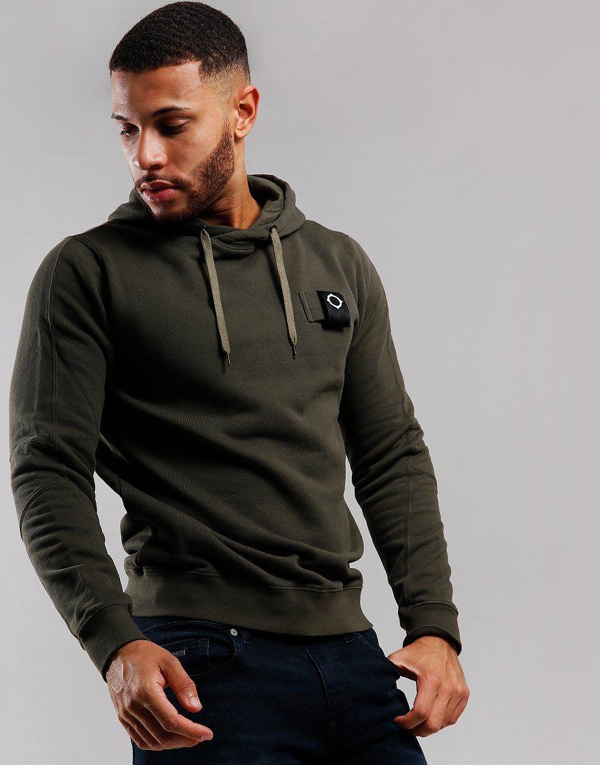 MA.Strum Overhead Training Hoodie Dark Khaki Green