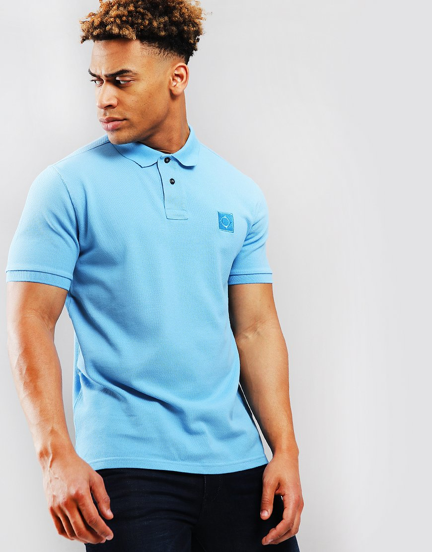 133790b7f111a MA.Strum Pique Icon Polo Shirt Dutch Blue - Terraces Menswear