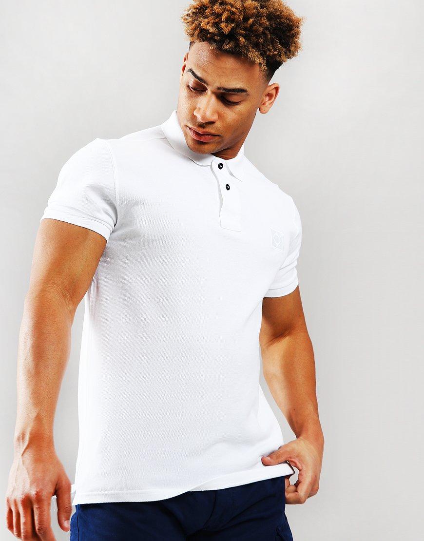 MA.Strum Pique Icon Polo Shirt Optic White