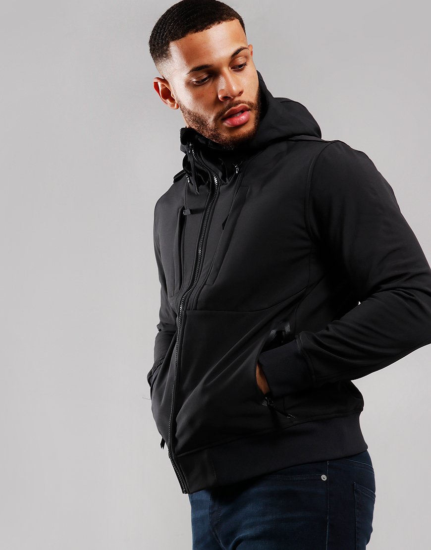 MA.Strum Velo Softshell Hooded Jacket Jet Black