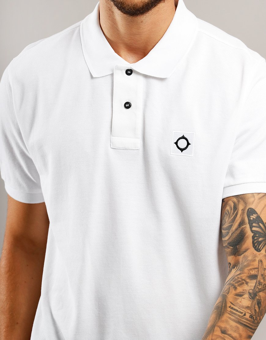 MA.Strum Piqué Polo Shirt Optic White