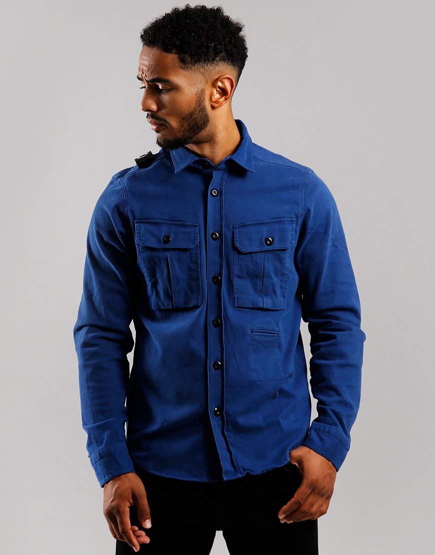 MA.Strum Two Pocket Shirt Dark Indigo