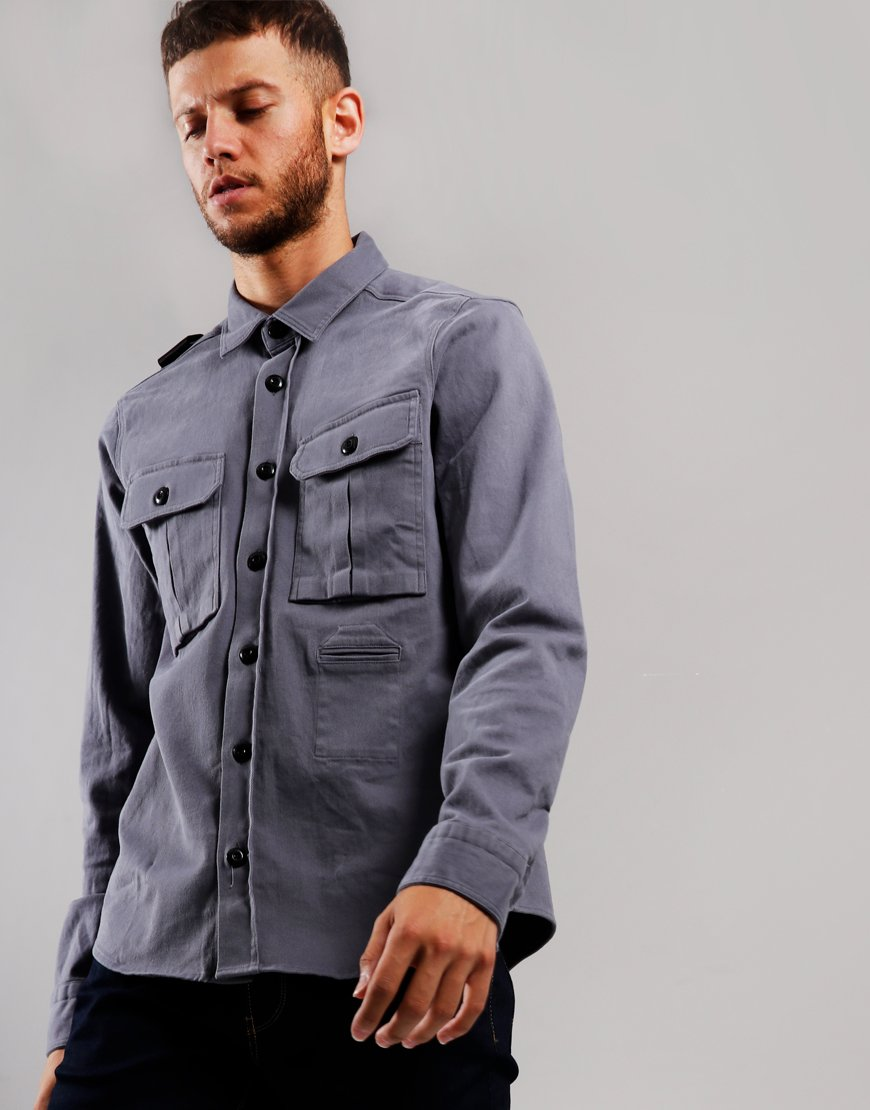 MA.Strum Two Pocket Shirt Elephant Grey