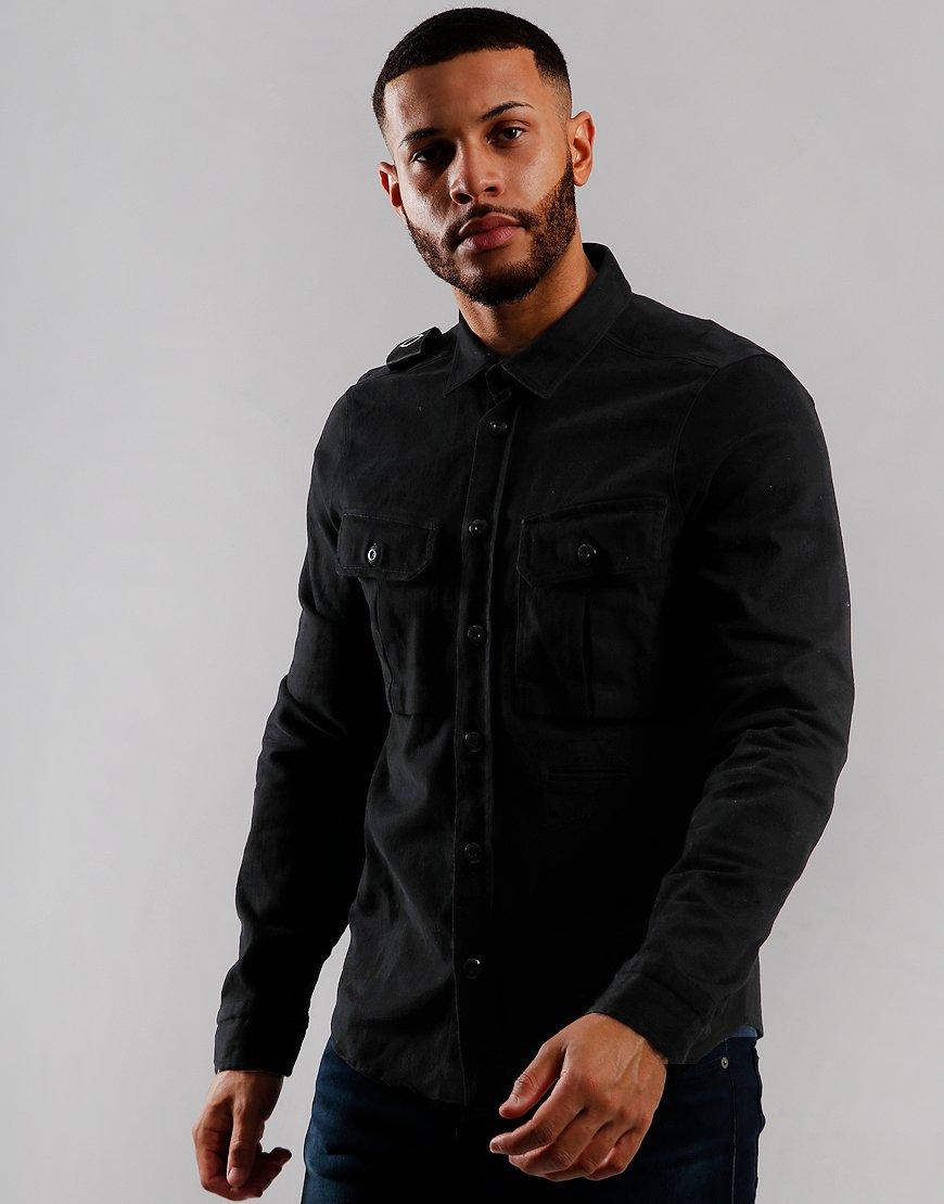 MA.Strum Two Pocket Shirt Jet Black
