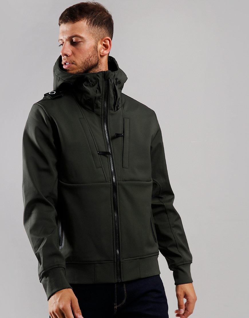 MA.Strum Velo Softshell Hooded Jacket Dark Khaki Green