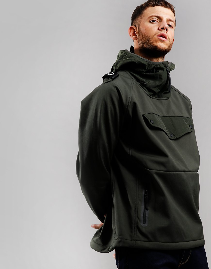 MA.Strum Velo Overhead Softshell Jacket Dark Khaki Green