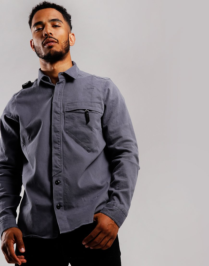 MA.Strum Zip Pocket Shirt Elephant Grey