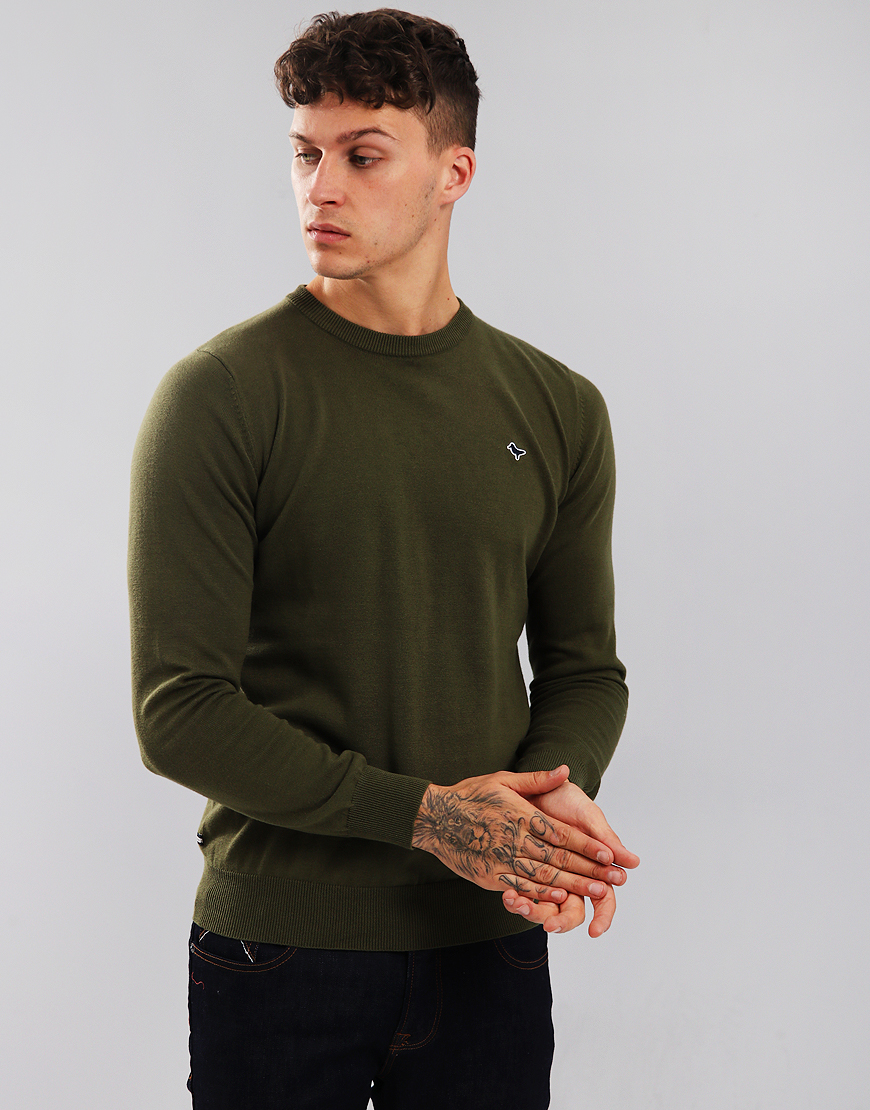 Weekend Offender Mitchell Crew Neck Knit Moss