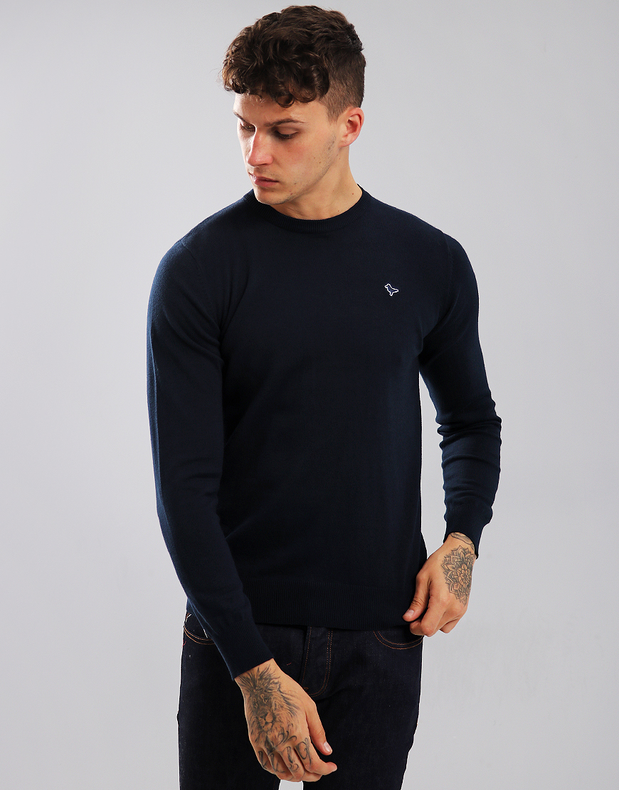 Weekend Offender Mitchell Crew Neck Knit Navy