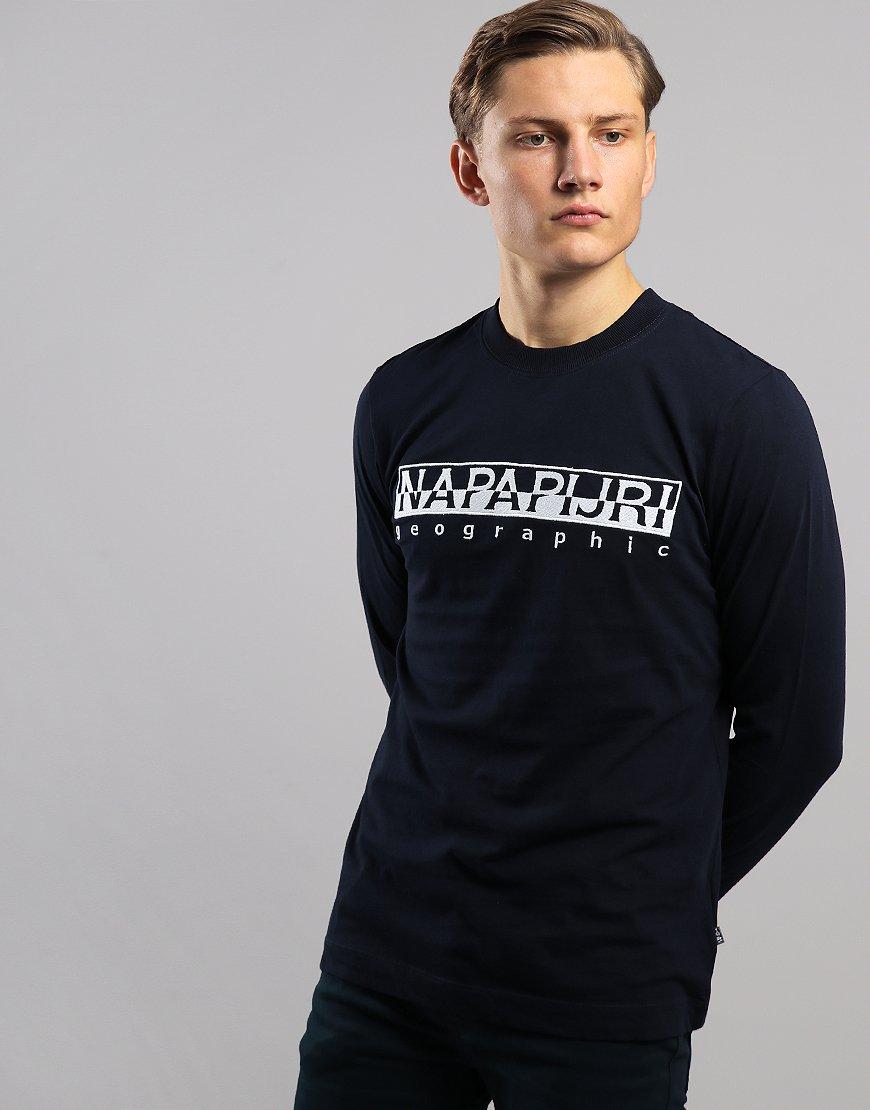 Napapijri Serber Long Sleeve T-Shirt Blue