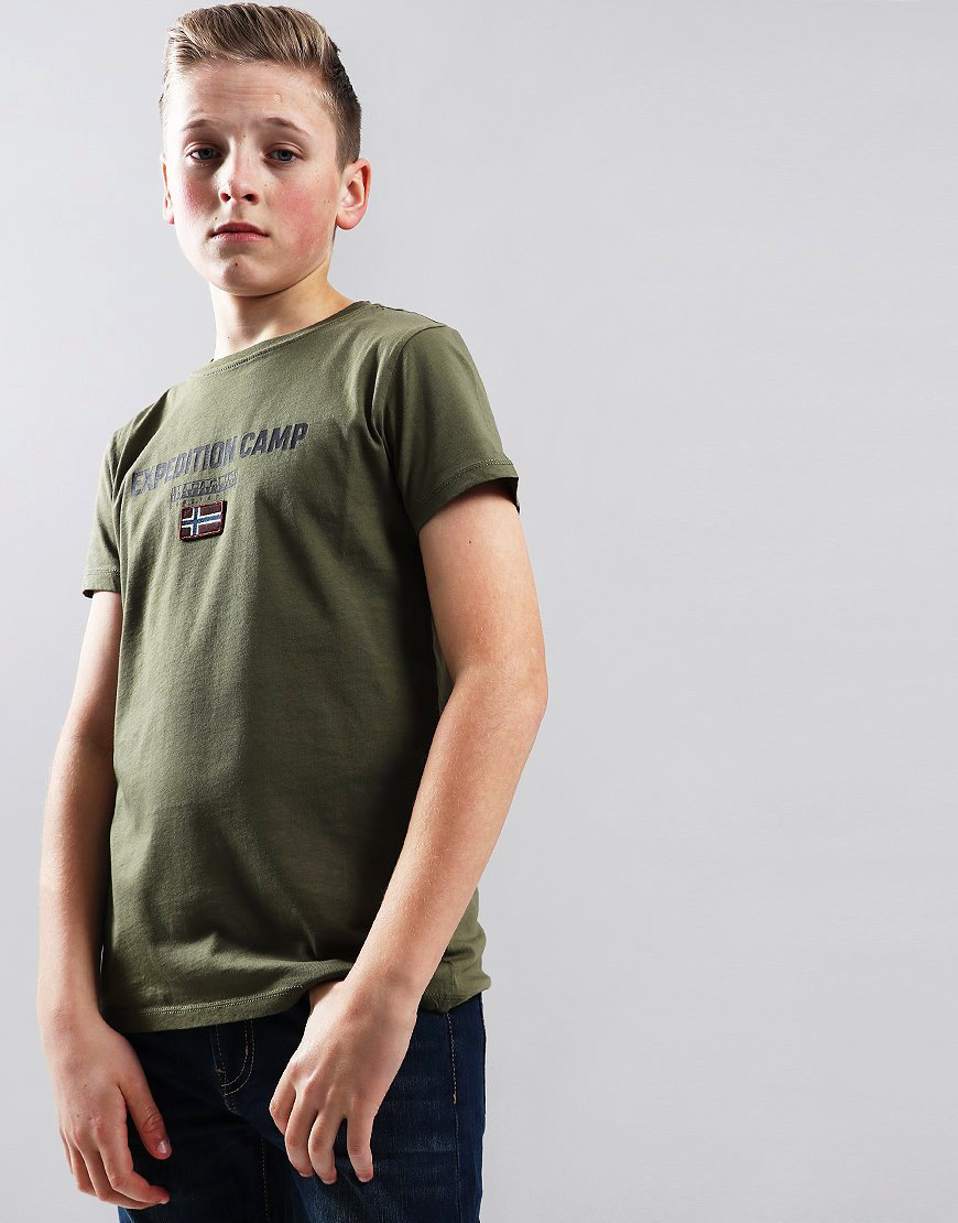 Napapijri Kids Sonthe T-Shirt New Olive Green