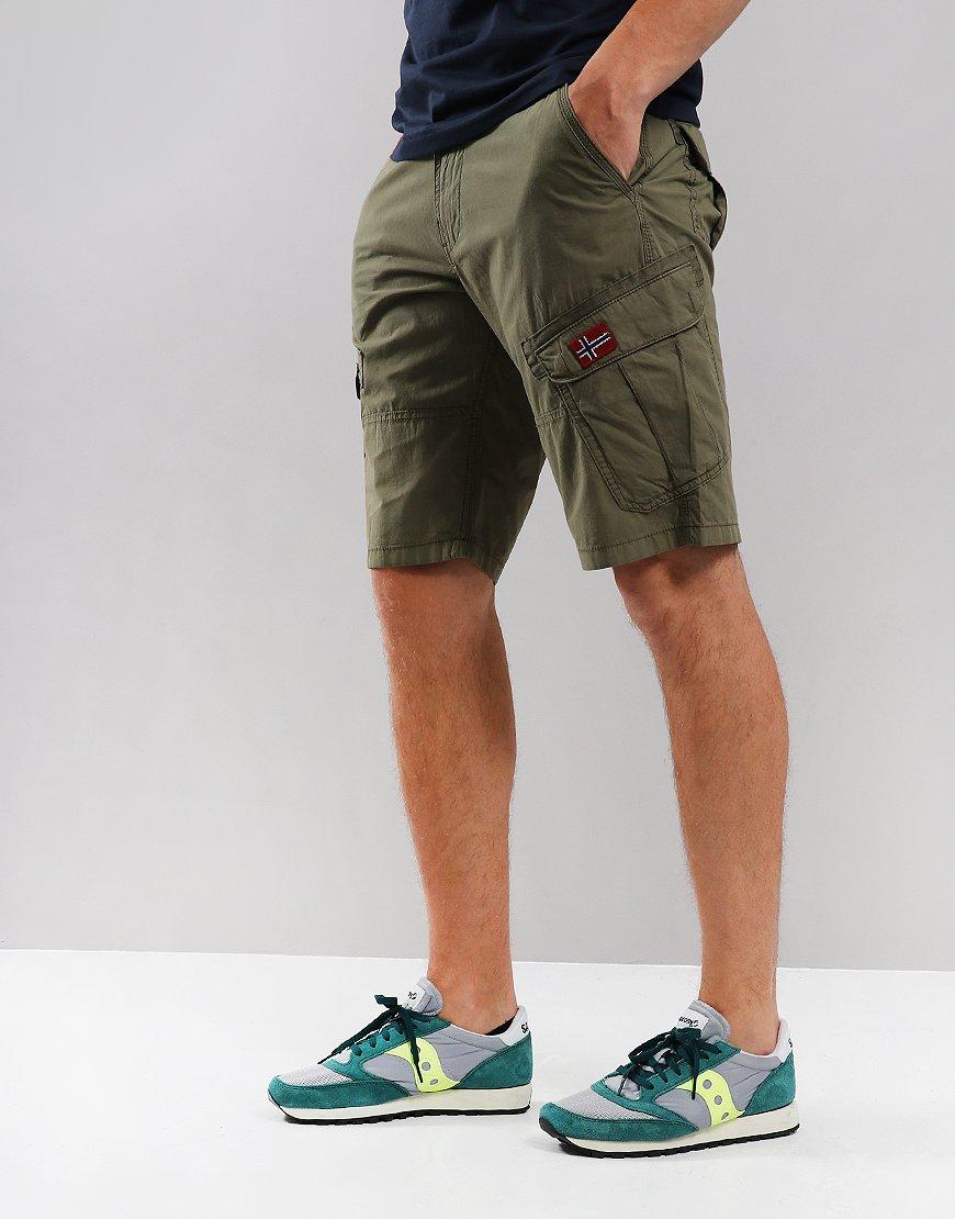 Napapijri Nadi Bermuda Shorts New Olive Green