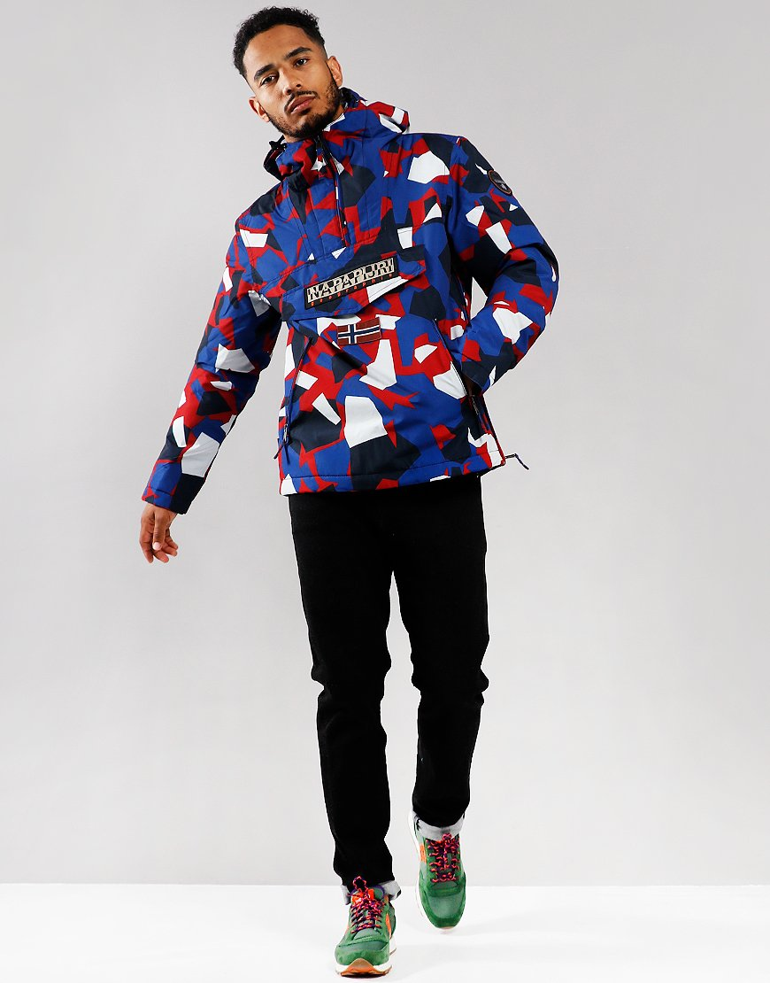Napapijri Rainforest Pocket Jacket Red Camouflage