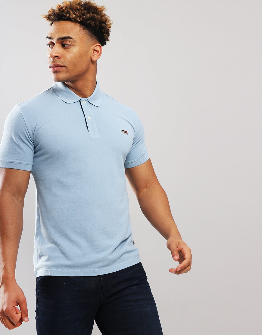 Napapijri Taly Polo Shirt Dusk Light Blue