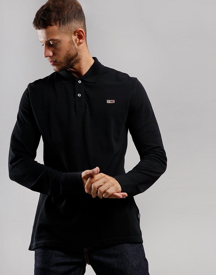 Napapijri Taly 2 Long Sleeve Polo Short Black