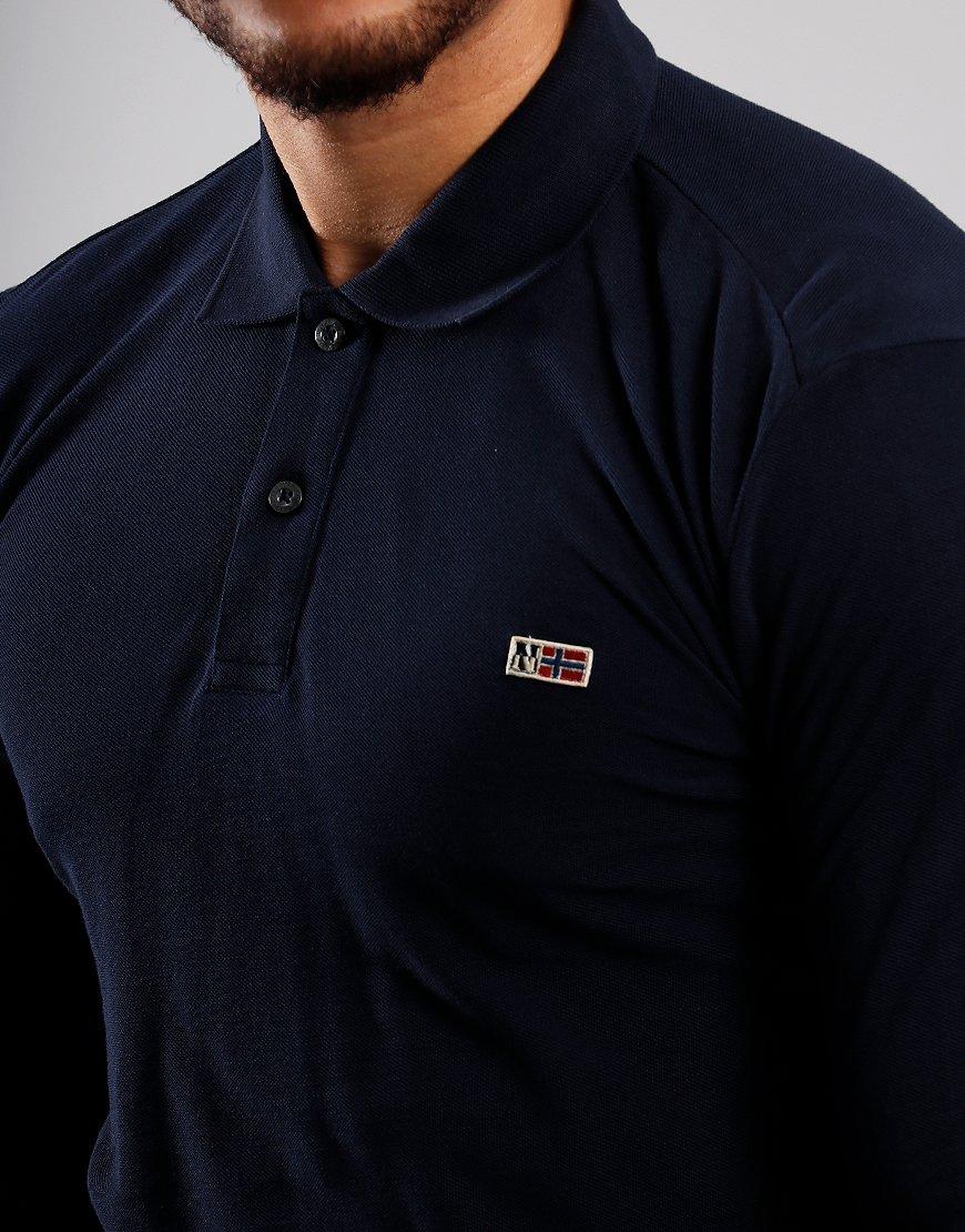 Napapijri Taly 2 Long Sleeve Polo Short Blu Marine
