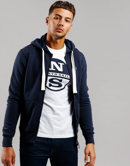 North Sails Full Zip Sweat Navy Blue
