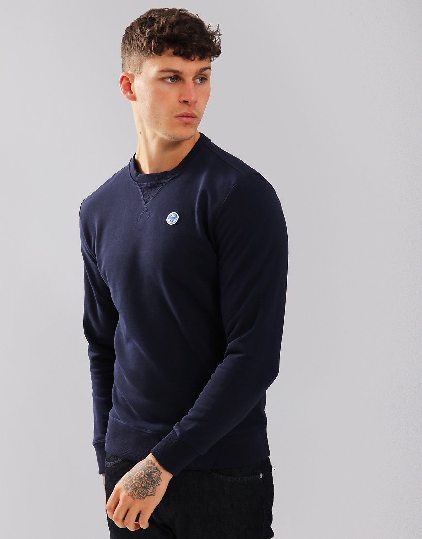 North Sails Crew Neck Logo Sweat Navy Blue