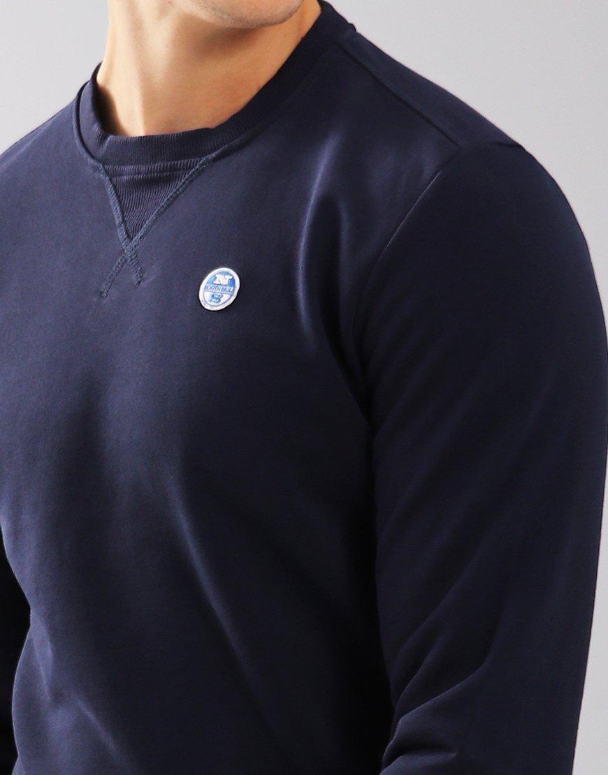 North Sails Crew Neck Logo Sweat Navy Blue